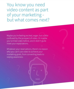 The intro page of a video content planning e-book I wrote for Skeleton.